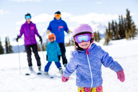 Family skiing at Telluride Ski Resort