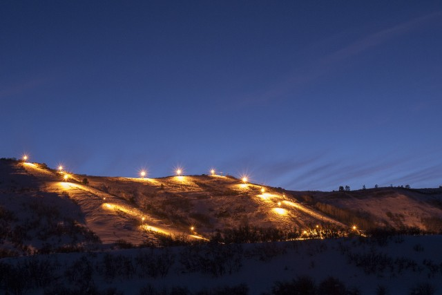 Night skiing at Hesperus Ski Area. Photo by Scott DW Smith.