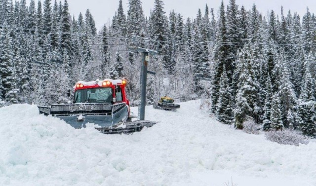 The snowcats at Winter Park Resort preparing for Opening Day.