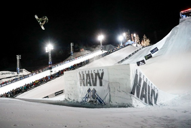 Hailey Langland competes in Women's Big Air. Photo by Chris Tedesco/ESPN.