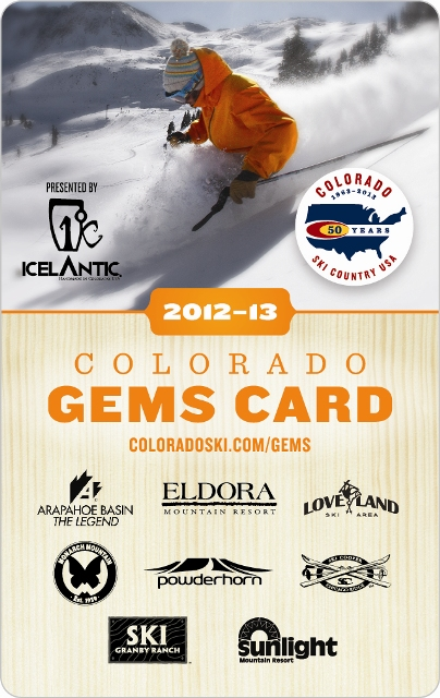 2012-13 Colorado Ski Country Gems Card